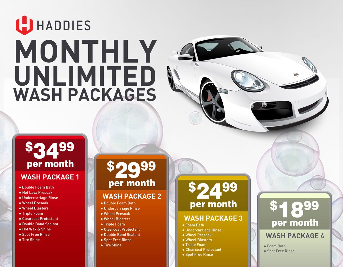unlimited car wash packages